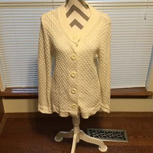Christopher & Banks off white cardigan size XL